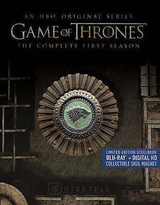 Game of Thrones The Complete First Season ( Blu-ray, 2015, 5-Disc, SteelBook )