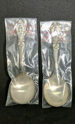 """2  Round Bowl Soup Spoons  Francis I (Sterling,""""Reed & Barton"""")  6"""""""