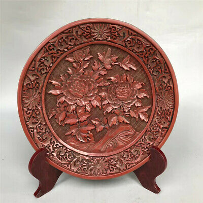 Chinese old antique Lacquer ware wooden handcarved TRAY