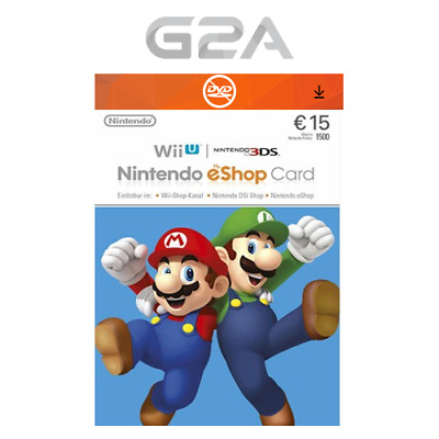 Nintendo eShop 15 Euro Card - 15€ Nintendo Switch / 3DS / WiiU Digital Key [EU]