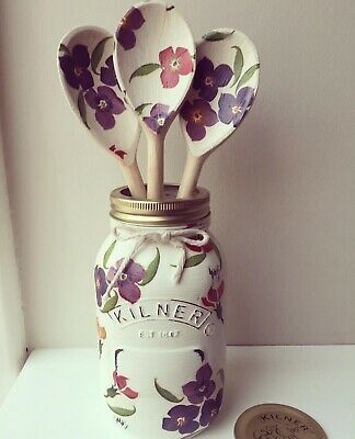 Emma Bridgewater Themed Kilner/Mason Jar & Utensils - Wallflower