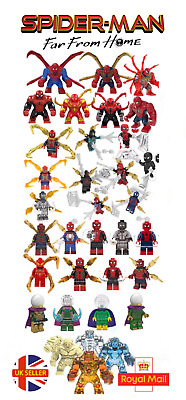 Spider-Man Marvel Lego Fit Far From Home Mysterio Iron Spider Man UK Seller