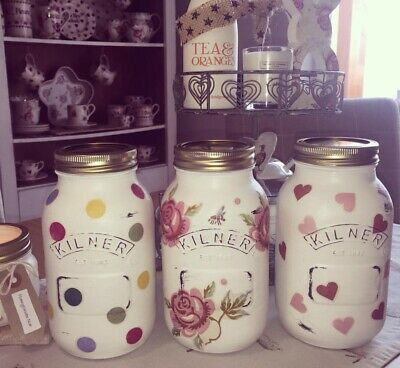 Emma Bridgewater Themed Kilner/Mason Jar & Utensils - Polka Dot