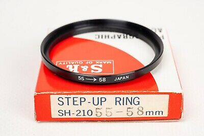 S&K Stepping ring- Step up 55-58mm
