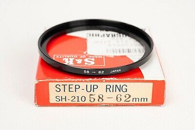 S&K Stepping ring- Step up 58-62mm