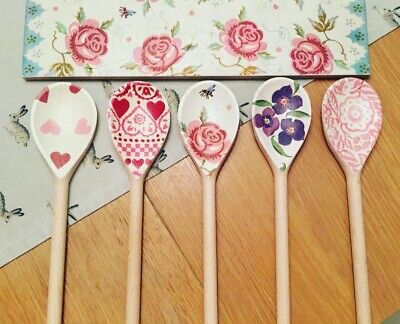 Emma Bridgewater Themed Set Of 5 Utensils - Rose & Bee, Wallflower, Pink Hearts
