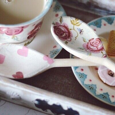 Emma Bridgewater Themed Set Of 2 Utensils - Rose & Bee And Pink Hearts