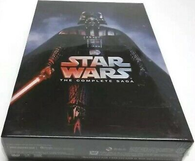 Star Wars: The Complete Saga DVD I,II,III,IV, V, VI, 12-Disc Box Set 1-6 Sealed