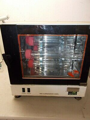 Hybaid Mini Hybridization Oven w/6 Spot Rotisserie Arm & 6 Capped Bottles