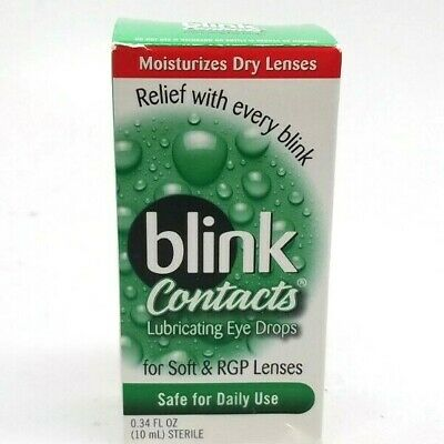 Blink Contacts Lubricating Eye Drops for Soft & RGP Lenses Exp 12/2021