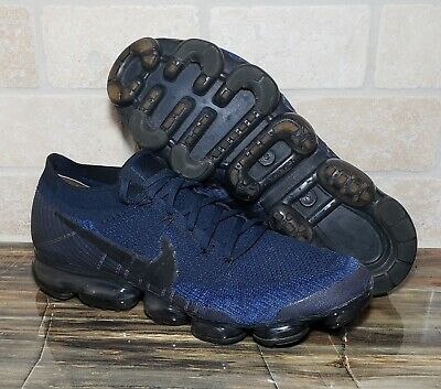 Nike Air VaporMax Flyknit College Navy Day 2 Night Pack Men's Sz 10.5 849558-400