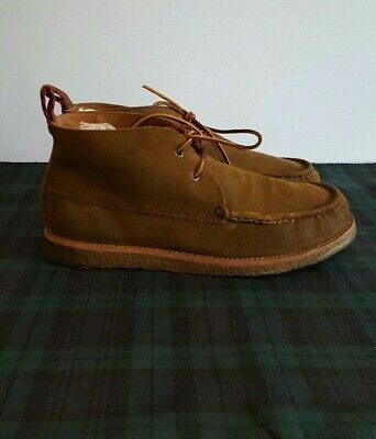 7e455c3ac35 POLO RALPH LAUREN Brentwood Brown Oiled Suede Lace Up Boot Size 10 D ...
