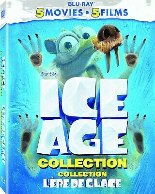 Ice Age 5-Movie Blu-ray Collection (Bilingual Canadian release) - NEW!
