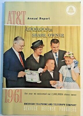 AT&T 1961 American Telephone &Telegraph Co BELL TELEPHONE CO Annual Report $$$$$