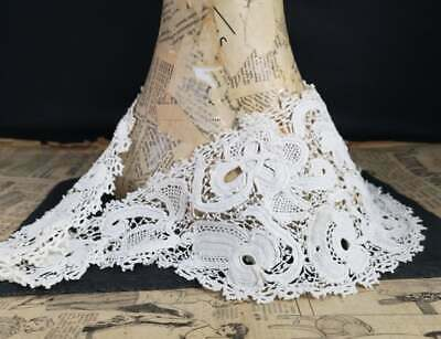 Antique Victorian lace collar, 19th century Irish crochet, reticella