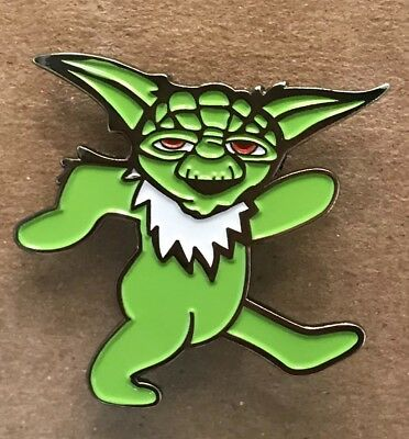 Grateful Dead Dancing Yoda Lapel Pin. Hat Pin. Steal Your Face.  High Quality!