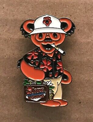 Grateful Dead Hunter S. Thompson Bear Red Lapel Pin. Steal Your Face.