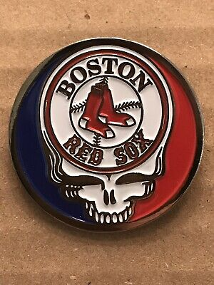 Grateful Dead Boston Red Sox Lapel Pin. Hat Pin. Steal Your Face.  High Quality!