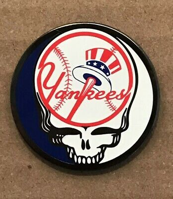 Grateful Dead New York Yankees Lapel Pin. Hat Pin. Steal Your Face.