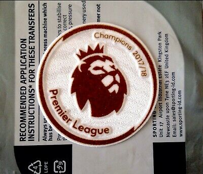 2017-18 Man City EPL CHAMPIONS Official Adult Replica Size Football Badge Patch