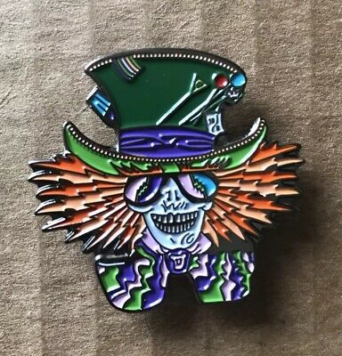 Grateful Dead Mad Hatter Lapel Pin. Hat Pin. Steal Your Face.  High Quality!