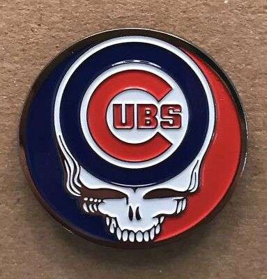 Grateful Dead Chicago Cubs Lapel Pin. Hat Pin. Steal Your Face.  High Quality!