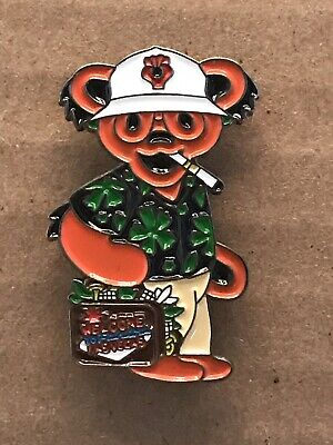 Grateful Dead Green Bear Hunter S. Thompson Lapel Pin. Steal Your Face.