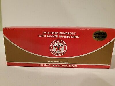 1918 Ford Runabout 1:25 Scale Die-cast Metal texaco SPECIAL EDITION