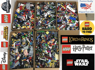100% Genuine LEGO by the Pound! 1-100 pound! Bulk LOT! Large Order =Bonus! LEGOS