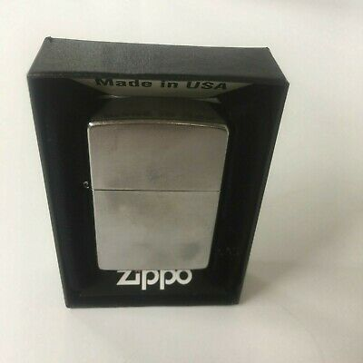 Zippo 207 Regular Street Chrome Lighter Unbroken Seal W/Papers USA NEW