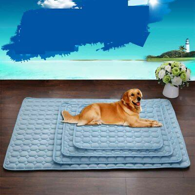NO HEAT Pet Cooling Mat Non-Toxic Cool Pad Pet Bed For Summer Dog Cat Puppy