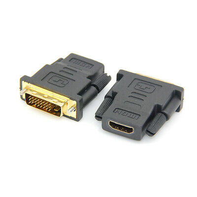 Female Adapter Gold Plated Converter For HDTV DVI D 24+1 25 Pin Male to HDMI