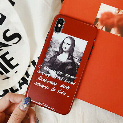 For iPhone X XS Max XR 6 7 8 Plus Mona Lisa TPU Soft Silicone Phone Case Cover