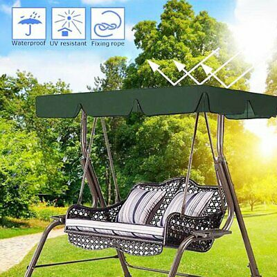 Green 2 & 3 Seater Garden Swing Chair Replacement Canopy Spare Cover #T