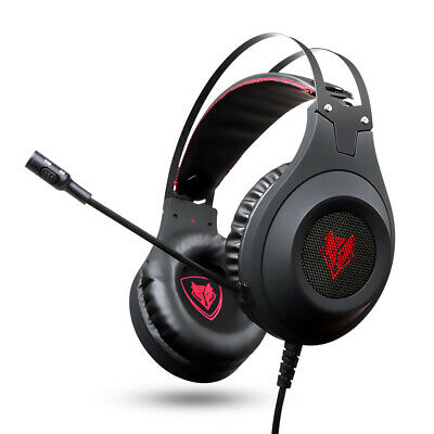 NUBWO LED Pro Stereo Gaming Headphone Headset w/MIC LED for PC PS4 Xbox One B7E8