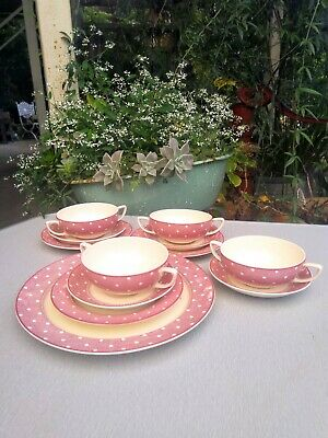 "Woods Burslem ""Lady Susan"" Set of 12 pieces England 1940's"