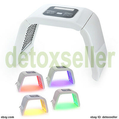 New Photon PDT LED Facial Skin Care Therapy 4 Colors Anti Aging Device Salon