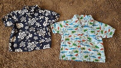Gymboree/Disney*Lot of 2 Summer Shirts*Baby Boy 6-12mos*EUC