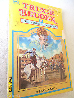 TRIXIE BELDEN #6 THE MYSTERY IN ARIZONA PB  c1985 SQUARE EDITION Julie Campbell