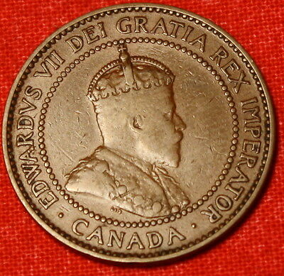 1909 Canada Large Cent Penny Great Collector Coin Gift Ca18