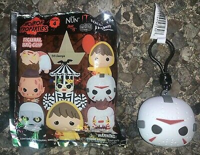 """Horror Properties """"JASON VORHEES MASK"""" Keychain Clip Friday the 13th Blind Bag"""