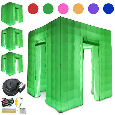 1/2/3 Doors Inflatable LED Air Pump Photo Booth Air Tent Wedding Party + Control