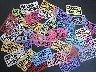 Die Cuts  Happy Birthday 14   Die Cuts   Cardstock Many Colours