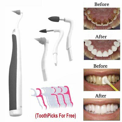 Electric Dental Scaler Tooth Calculus Remover Kit w/30pcs Floss Tooth Picks Free
