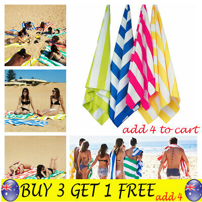 Striped Extra Large Lightweight Quick Dry Beach towels Sand Free Compact towel T