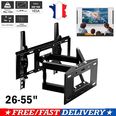 """Support TV mural orientable et inclinable 26""""-55"""" 32 40 42 46 50 52 55 3D LED"""