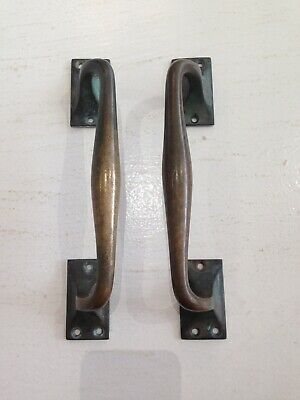 Antique Brass Door Handles Shop Pulls Architectural Old Pub Vintage Bronze  8""