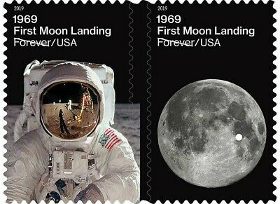 US 5399-5400 1969 First Moon Landing forever set (2 stamps) MNH 2019 after 7/27