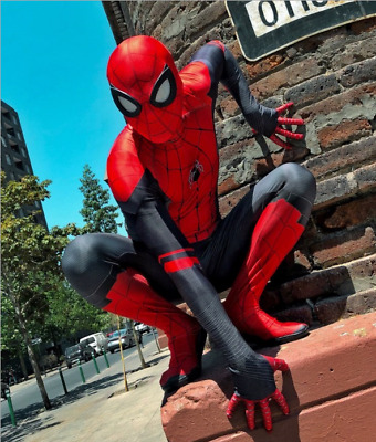 Adult Spider-Man Far From Home Peter Parker 3D Zentai Costume Halloween Cosplay