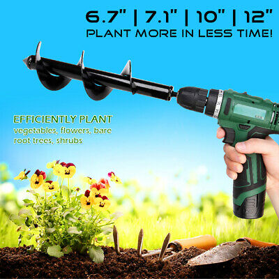 12'' Power Hole Digger Kit Garden Auger Small BigEarth Planter Spiral Drill Bit